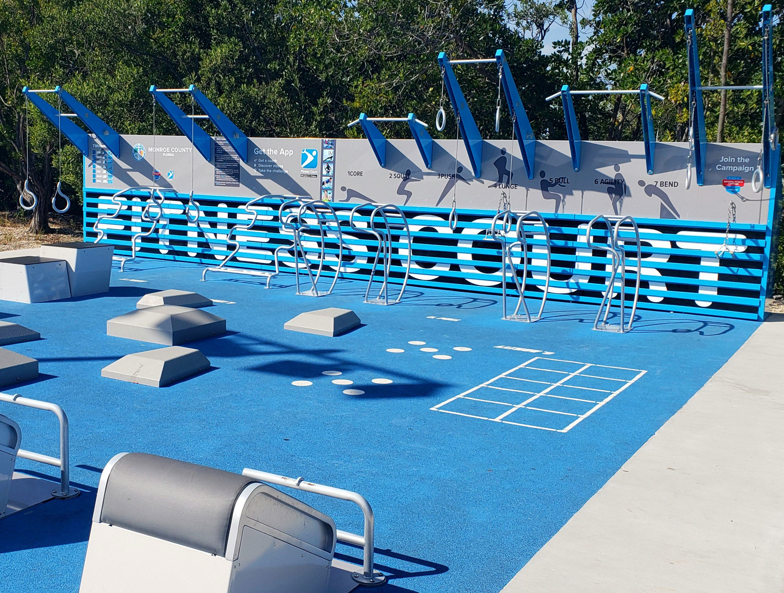 New fitness equipment at Bernstein Park
