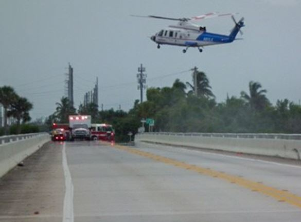 Trauma Star Pickup on Shark Key Bridge 9-10-18 W