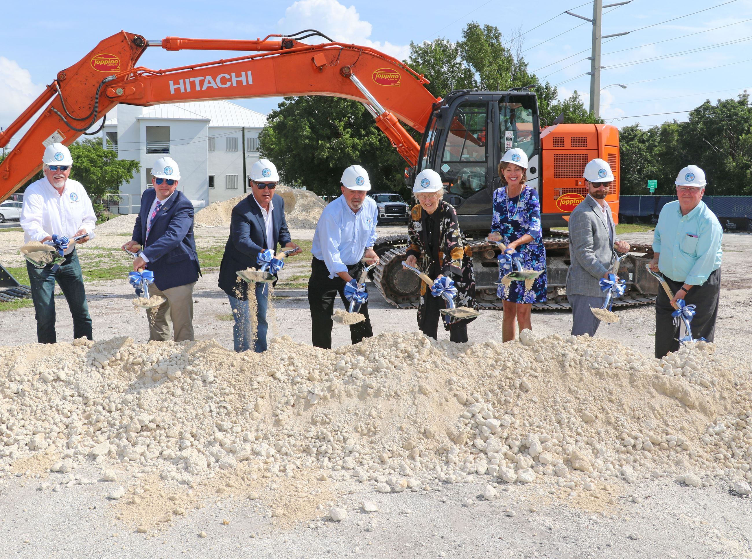Monroe County commissioners and project management break ground at the courthouse