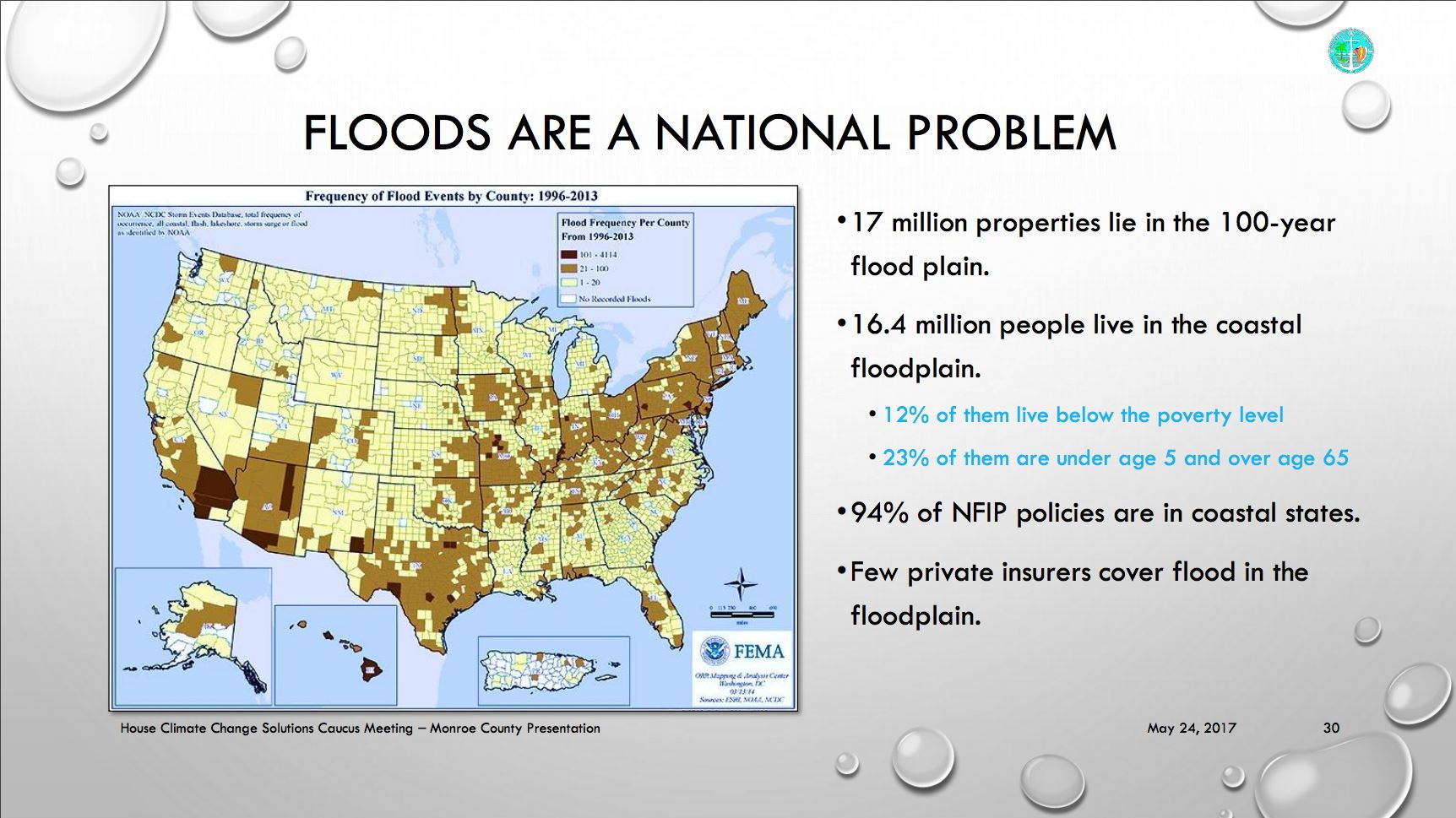 Photo of Floods are a National Problem Map about National Flood Insurance Program