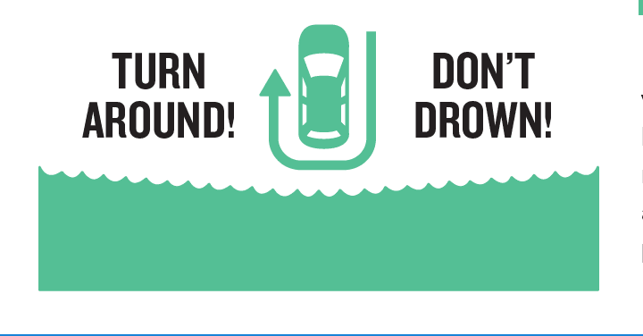turn around do not drown logo